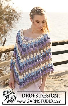 Ravelry: 119-12 Poncho pattern by DROPS design