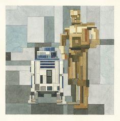 Pixelated Watercolor Paintings Of Star Wars | Bored Panda