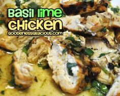 Basil Lime Chicken for the grill. do with lemon