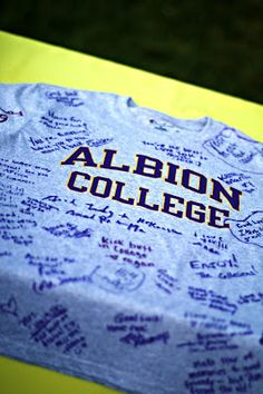 Grad Party Whatever college I plan to attend. Get t-shirt and have guests sign!