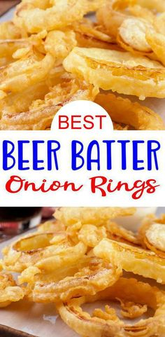 Homemade Onion Rings, Baked Onion Rings, Onion Rings Recipe, Onion Rings Beer Batter Recipe, Diy Onion Rings, Homemade Beer, Onion Recipes, Beer Recipes, Cooking Recipes