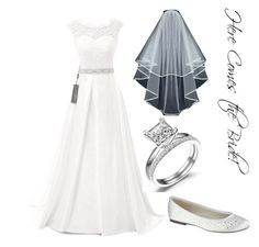 """""""Here comes the Bride"""" by emilygsmith1996 on Polyvore featuring Paradox, women's clothing, women's fashion, women, female, woman, misses, juniors and wedding"""