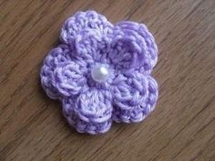 Busy Bees Craft Place: Free Five Petal Crochet Flower Pattern by sheila.moose
