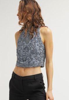 Lace & Beads - PAULA - Blusa - light grey
