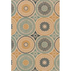 Found it at Wayfair - Vero Blue/Beige Area Rug