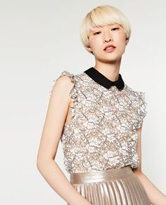 Discover the new ZARA collection online. Diy Couture, Couture Tops, Zara Tops, Moda Madrid, Fashion Catalogue, Beautiful Blouses, Fall Winter Outfits, Everyday Fashion, Flower Girl Dresses