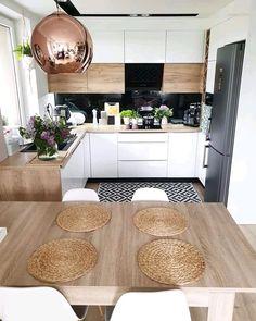 Ikea Kitchen Design, Home Decor Kitchen, Interior Design Kitchen, New Kitchen, Cocina Diy, Sweet Home, U Shaped Kitchen, Minimalist Kitchen, Beautiful Kitchens