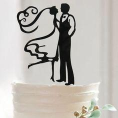 FREE SHIPPING+Mr Mrs Dancing Couple Wedding Decorating Accessories Cake Fondant Tool Kitchen Bakeware Fashion Cake Topper