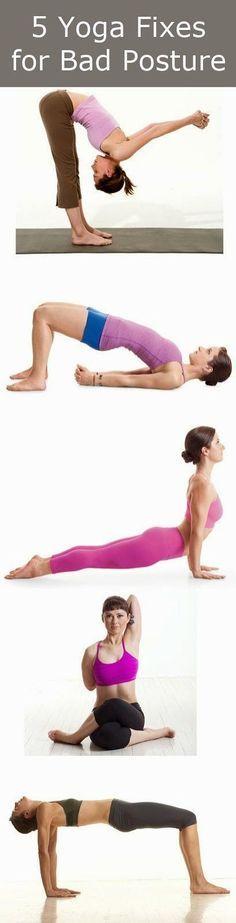 5 Yoga Fixes For Bad Posture   Cute Health #yoga #searchub