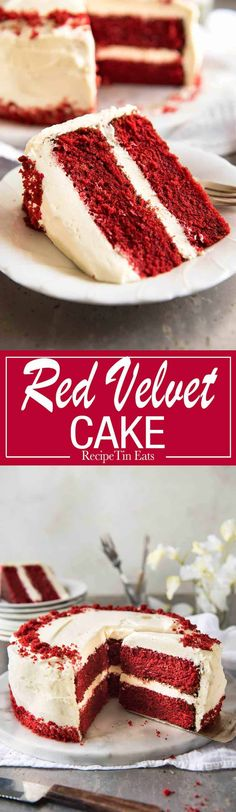 This is the BEST Red Velvet Cake recipe, and with my tips, it is so easy to make. Bright red, perfect, velvety sponge with fluffy cream cheese frosting. Brownie Desserts, Oreo Dessert, Mini Desserts, Coconut Dessert, Food Cakes, Cupcake Cakes, Cake Fondant, Sweets Cake, Baking Cupcakes