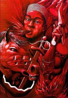 ⚡ Chango art by O.D. Guadarrama