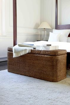 This Beautiful Hand Crafted Low Rattan Chest Has Plenty Of E For Out Season Clothing Or Bedding So Makes An Ideal Bedroom Storage Solution