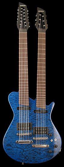 Veillette Guitars 12/6 Mahogany Quilt Maple Blue # 771
