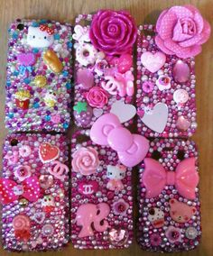 bedazzled phone cases :0)