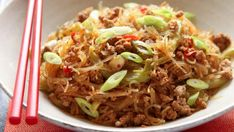 ... mung bean or bean thread noodles, which are brittle and white when dry