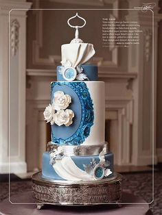 Blue Danube by Anna Elizabeth Cakes, via Flickr