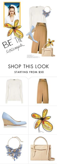 """Be the Example"" by minnieromanovich ❤ liked on Polyvore featuring Warehouse, A.L.C., L.K.Bennett, MISCHA, Chico's and Foley + Corinna"