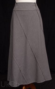 Per-Una-Long-Grey-Felt-Panel-Cut-A-Line-Maxi-Skirt-Size-14  £7.60 PAID Size 14, Felt, Costumes, Grey, Skirts, Fashion, Gray, Moda, Costume