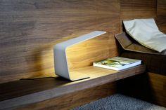 nachttischlampe minimalistisches design weiß