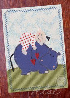 Postkarte  ★Kuschelzeit ★ von Telse Ahrweiler       Kunst + Design auf DaWanda.com