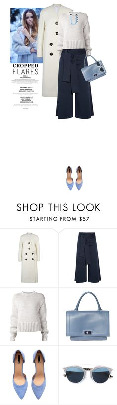 """""""Would You Wear It: Cropped Flares"""" by marion-fashionista-diva-miller ❤ liked on Polyvore featuring STELLA McCARTNEY, TIBI, Acne Studios, Givenchy, H&M, Christian Dior, Anisha Parmar London, women's clothing, women's fashion and women"""