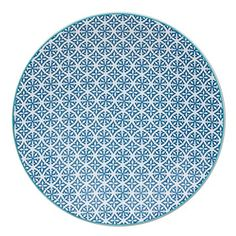 TABLE PASSION - ASSIETTE PLATE HELYSE 27CM BLEU (LOT DE 6)