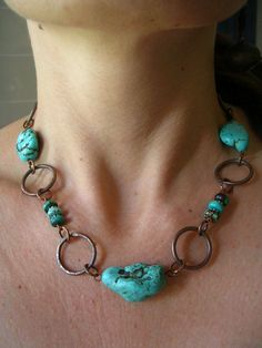 Turquoise+necklace+by+Craftduck+on+Etsy,+$32.00