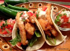 Fish Tacos Baja Style with Pico de Gallo and White Sauce - Hispanic Kitchen