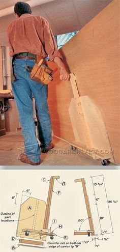 DIY Plywood Cart - Workshop Solutions Projects, Tips and Tricks   WoodArchivist.com #WoodworkingTools