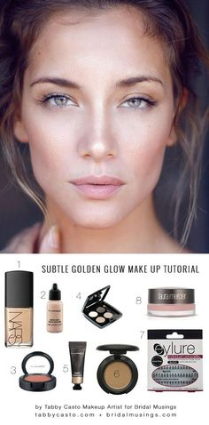 Natural Wedding Make Up Tutorial - glowing skin and fluttery lashes.