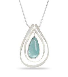 Ancient Roman Glass Pendant Necklace