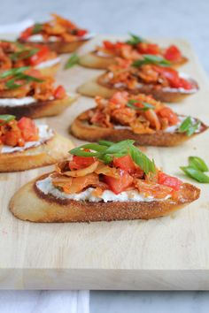 Kimchi Bruschetta! Sautéed Kimchi and tomatoes on toasted bread. Kimchi lovers, you need to check this one out!