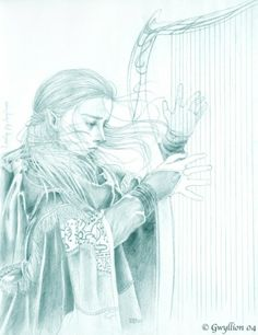 Daeron: Minstrel of Doriath and inventor of the Runic Alphabet. Loved Lúthien but betrayed her to her father when he learned of her love for Beren. #Tolkien #Silmarillion #Leithian