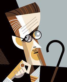 Kirigami, James Joyce, Mural Painting, Geometric Art, Portrait Art, Pop Art, Graphic Art, Anime Art, Drawings