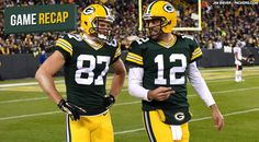 "11-9-14 Packers at their best in blowout win over Bears Pack 55 Bears 14 ""Love the smiles Aaron"""