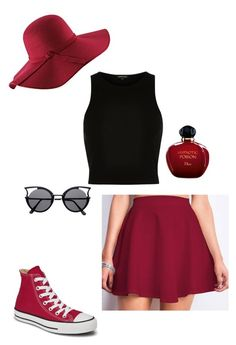 """Untitled #30"" by seipanthers ❤ liked on Polyvore featuring River Island, Converse and Christian Dior"