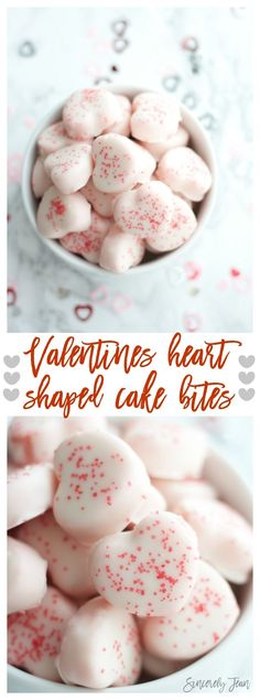 These Valentines heart shaped cake bites are so yummy and are the perfect treat for your valentines. They are moist cho. Desserts For A Crowd, Best Dessert Recipes, Easy Desserts, Sweet Recipes, Delicious Desserts, Cake Recipes, Romantic Desserts, Instant Recipes, Quick Recipes