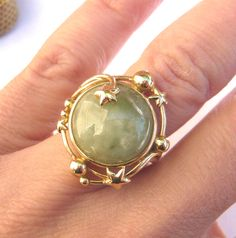 VINTAGE JADE Gold Star Design Ring | Sanuk Jade Ring | Gold Starburst Ring | Vintage Jade Ring | Large Jade Ring by EvaAntiques on Etsy https://www.etsy.com/listing/262638601/vintage-jade-gold-star-design-ring-sanuk