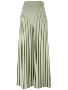 Givenchy pleated palazzo pants / Pale Green cropped cotton-wool blend / Reg. $2,755 Now $1,102 at Farfetch