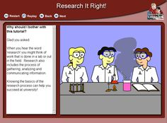 Tutorial: Research it right!   In this tutorial you will learn: the basics of choosing a good research topic, Various resources you can use for your assignments and papers,To think critically about the information you find, The importance of givingcredit to a source and Where to get help.