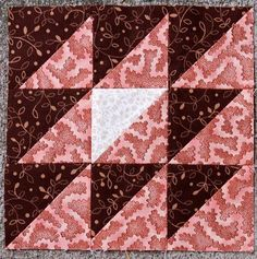 "Back Home    Block from the book ""The Civil War Love Letter Quilt"