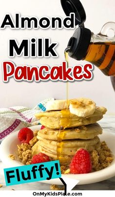 These Almond Milk Pancakes are incredibly fluffy, delicious and made with simple ingredients that are likely in your pantry! Delicious pancake recipe perfect for breakfast. Almond Milk Pancakes, Dairy Free Pancakes, Pancakes Easy, Family Recipes, Family Meals, Light And Fluffy Pancakes, Yummy Pancake Recipe, Meals Kids Love, Easy Keto Meal Plan