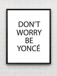 Beyonce-poster fra etsy.com