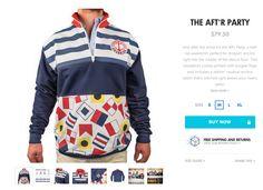 Chubbies! Half-Zip  The AFT'R Party. Size Medium