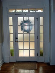 krylon frosted glass spray for back doors