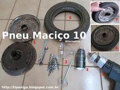 Foto: Pneu Maciço Alternativo versão 10 - Ideia de pneu sem câmara de ar. 1…
