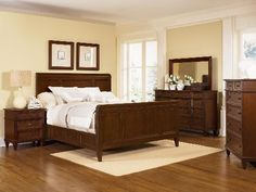 Furniture of America Bravo Smooth Transitional Sleigh Bed (Queen - Cherry), Brown Picket House Furnishings, Wynwood Furniture, Furniture Of America, Solid Wood Platform Bed, Bed, Furniture, Bedroom Set, Home Decor, Transitional Furniture