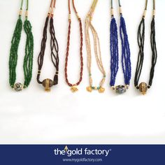 Ceramic, betel-nuts and glass beads with a dash of gold. Deliciously affordable tassel-hars that stand out both in design and price.Try them.