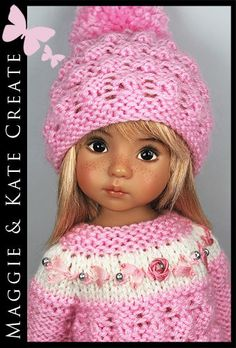 """* Pink & White * Outfit for Little Darlings Effner 13"""" by Maggie & Kate Create"""