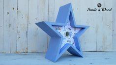 Estrella infantil azul con luz